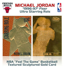 1996 MICHAEL JORDAN Fleer Ultra FEEL THE GAME Basketball Textured NBA GOLD Card