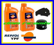 Kit Tagliando PIAGGIO BEVERLY 400 12 13 Filtro Aria Olio REPSOL 5W/40 2012 2013