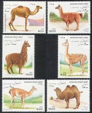Afghanistan 1997 chameaux/lamas/animaux/nature/faune/camel/llama 6v set n39898