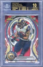 2015 Finest Atomic Red refractor RC Todd Gurley LA Rams BGS 10 Black Label