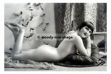 rp17529 - Young Nude Woman Laying on Cushion - photograph