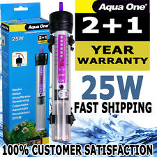 Aqua One Automatic Aquarium Submersible 25W Heater Fish Tank 3 YEAR WARRANTY