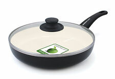 """GreenLife Soft Grip 12"""" Non-Stick Frying Pan with Lid"""