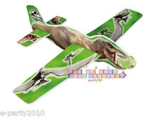 JURASSIC WORLD FOAM GLIDERS (4) ~ Birthday Party Supplies Toys Favors Airplanes