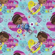 Disney Doc Mcstuffins The Doc Is In Hearts and Flowers Cotton Fabric by the Yard