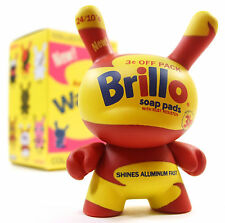"Kidrobot ANDY WARHOL DUNNY SERIES - BRILLO SOAP PADS Yellow 3"" Vinyl Figure NEW"