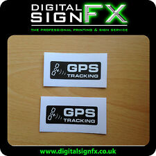 Warning GPS Tracking Laminated Stickers Van Motorbike Car Lorry x 2