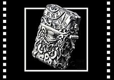 ZIPPO Lighter Pirates heavy instep both sides carving finish Silver Skull Japan