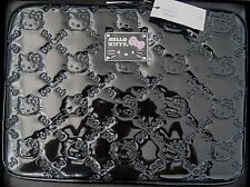 "HELLO KITTY BLACK EMBOSSED PATENT LAPTOP CASE for 13"" or 13.5"" *AUTHENTIC, NWT"