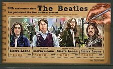 SIERRA LEONE 2015  THE BEATLES SHEET OF FOUR  MINT NEVER HINGED