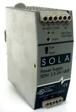SOLA ELECTRIC SDN-2.5-24-100P POWER SUPPLY 24VDC 2.5AMP SDN2524100P