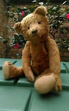 "Antique german ? 17"" cinnamon brown character early jointed mohair teddy bear"