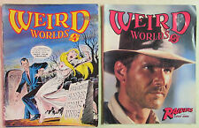 Weird Worlds Magazine Lot of 2 Sci Fi Comic Magazines from the Early 1980s