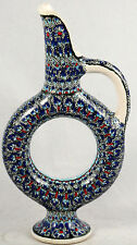 "Vntg Ceramic Pitcher/Vessel from Turkey Avanos ""Fir-Ca Turkiye"" Handmade/Painted"