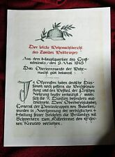 German Wehrmacht order of  May 9, 1945