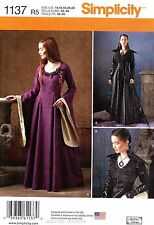 Simplicity Sewing Pattern 1137 Women's 14-22 Medieval fantasy Costume dress