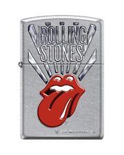 Zippo 8631 Rolling Stones Logo Street Chrome Finish Lighter
