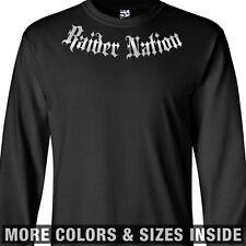 Raider Nation Addict LONG SLEEVE T-Shirt - Raiders Addiction Oakland - All Sizes