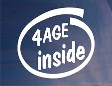 4AGE INSIDE Novelty Car/Window/Bumper Vinyl Sticker Ideal For Toyota Corolla/MR2