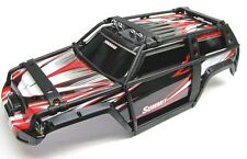Summit UPDATED BODY (BLACK & RED ExoCage Cover Shell painted  Traxxas 5607