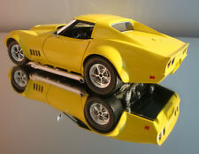 1 Racer Vintage 1969 Vette Chevy Race Car Sport Rare Model Diecast Metal 12