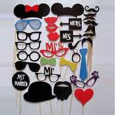 31PCS  DIY Party Masks Photo Booth Props Mustache On A Stick Wedding Party Decor