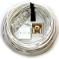 15M BT Telephone Master Socket/Box Line Extend Extension Cable Kit -10m 15m Lead