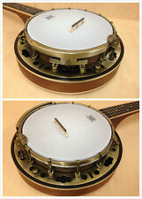 Caraya Concert Size Banjo ukulele,Flame Maple Resonator, Satin + Free Gig Bag