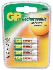 GP 656.158 EkoPower NiMH Rechargeable 650mAh AAA Batteries 1000 Recharges 4 Pack
