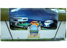 Set of 3 Cars of VW Camp Cruiser Scene Dioramas Diecast 1:64 Greenlight 3 inch