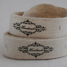 20 Cotton Linen Fabric Ribbon Sewing Labels - Handmade - Vintage Shabby Chic