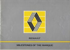 Renault 'Milestones Of The Marque' 1985 UK Market Corporate Sales Brochure