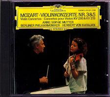Anne-sophie mère: Mozart violin concerto no. 3 & 5 Karajan DG CD violinkonzerte