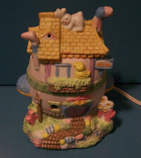 EASTER Lighted House Hand Painted Porcelain - New in Box
