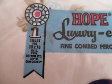 2 VINTAGE HOPE LUXURY-CALE TWIN FITTED PERCALE SHEET  ALL CORNERS STRETCH  NRFP