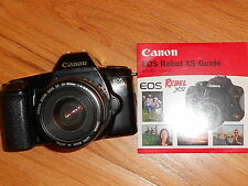 Canon EOS Rebel 35mm Camera with canon zoom EF 35-80mm Lens 1:4-5.6 W/GUIDE