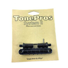 "TonePros T3BT Black Locking ""Big Hole"" T-O-M Style Guitar Bridge GB-0528-003"