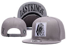 New Fashion Last Kings Adjustable Baseball Cap Snapback Hip-Hop Street Gray Hat