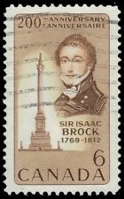 CANADA 501 - Sir Isaac Brock 200th Birth Anniversary (pf62783)