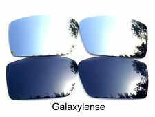 Galaxy Replacement Lenses For Oakley Fuel Cell Black&Titanium Polarized 2 Pairs