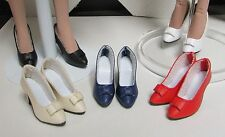DOLL Shoes, Bow Pumps in RED fit Ellowyne and High Heel Marley