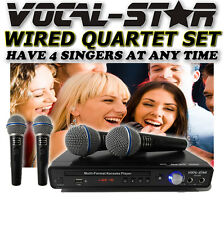 VOCAL-STAR 600 4 MICROPHONE CDG DVD KARAOKE MACHINE PLAYER SET