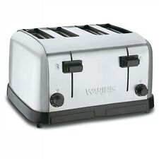 WARING COMMERCIAL TOASTER CHROME 4 EXTRA WIDE SLOT - WCT708