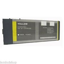 Wide Format Ink Cartridge T5654 Compatible for Epson Stylus 4800 Pigment Yellow