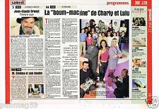 Coupure de Presse Clipping 2000 Hit Machine Charly et Lulu