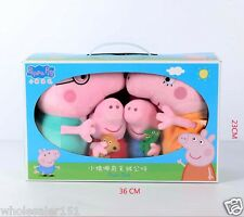 Peppa pig family plush toys with box Mommy,Daddy,Peppa,George children's gift