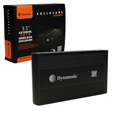 """Dynamode 3.5"""" SATA to USB 2.0 External Hard Drive Enclosure Caddy - Black"""