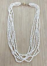 Genuine 6-Strand Freshwater Pearl Necklace with Gold Tone Clasp ~ 4-K2681