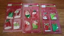 lot of 3 packages of holiday inspirations ornaments santa snowman new