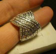 Diamond Cocktail Ring Sz. 9  72 diamonds  .60tcw  MSRP$1249